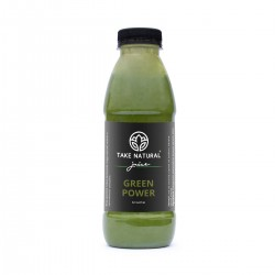 GREEN POWER - smoothie sa chia sjemenkama, bananom i špinatom 500 ml